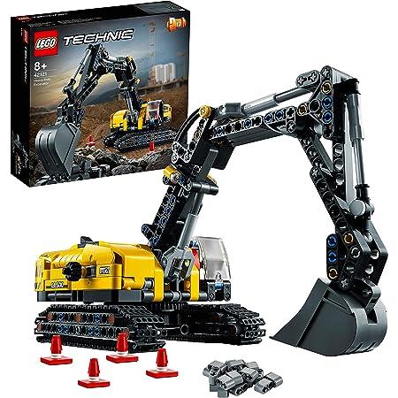 LEGO Technic Escavatore Pesante e Trattore Cingolato, Giocattolo 2 in 1, Costruzioni per Bambini e Bambine 8 Anni, 42121