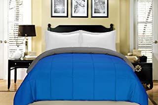 South Bay Reversible Down Alternative Comforter, King, Cobalt Blue/Gray
