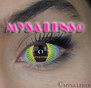 34db474975 Mysa Lens® Mini Sclera 17 mm lentes de contacto de color Green Devil Dragon/