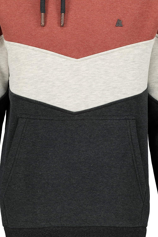 Alife and Kickin JasperAK Homme Sweat-Shirt à Capuche Noir/Gris, Regular/Coupe Standard 7250 Chestnut