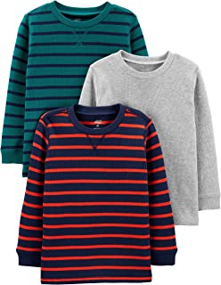 Simple Joys by Carter`s Toddler Boys` 3-Pack Thermal Long Sleeve Shirts