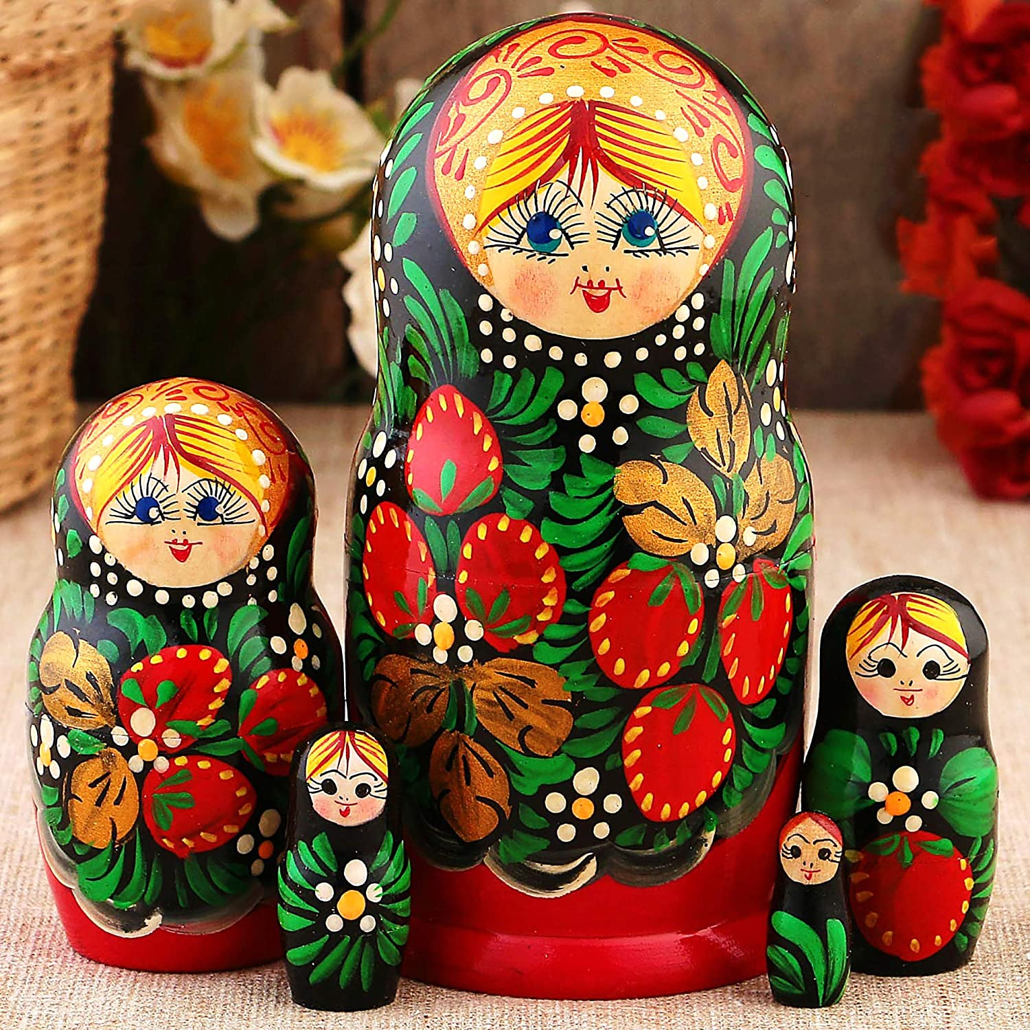 Factory outlet Russian Nesting 5 popular Dolls for Kids Wood Made Matryoshka in Russia -