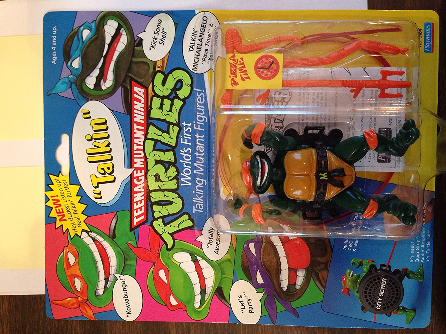 1991Talkin Mike (Michelangelo) Teenage Mutant Ninja Turtles