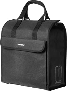Basil Mira Shopper Bag and Bicycle Pannier - Black - 17 litres