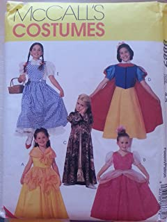 McCall's 8867 Girl's Classic Character Costumes Sizes 4,5