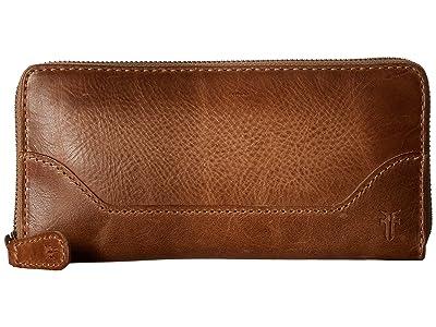 Frye Melissa Zip Wallet (Beige) Wallet