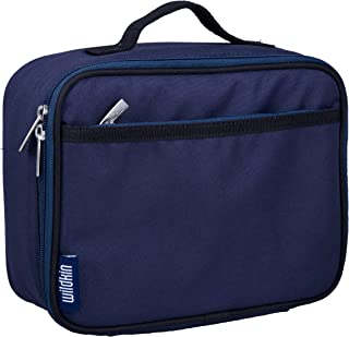 Lunch Box, Wildkin Lunch Box, Insulated, Moisture Resistant, and Easy to Clean with Helpful Extras for Quick and Simple Organization, Ages 3+, Perfect for Kids or On-The-Go Parents – Whale Blue