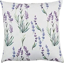 "SARO LIFESTYLE Lavanda Collection Lavender Design Pillow Cover, 18"""