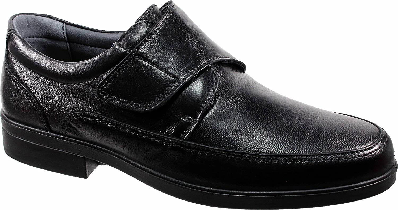 LUISETTI 26854 Negro - Zapato Velcro Piel Profesional Fabricado en España