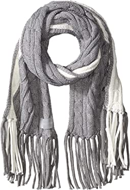 Color Block Cable Scarf