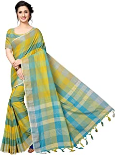 GoSriKi Cotton Silk with Blouse Piece Saree