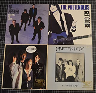 lot of 4 diff. pretenders lps : learning to crawl, extended play, get close, pretenders II