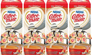 Nestle Coffee-mate Coffee Creamer, Original, liquid creamer singles, 50 Count (Pack of 4)