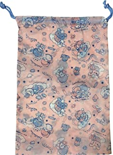 Twinkle tea Sanrio Little Twin Stars Purse Drawstring Bag polyester 21 /× 31 /× 10 cm