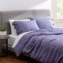 Amazon Brand – Rivet Lightweight Transitional Chambray Duvet Cover Bedding Set, Easy Care, King, Chambray
