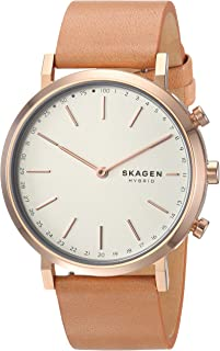 Skagen Hald Tan Leather Hybrid Smart Watch