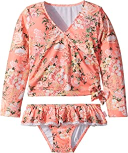 Seafolly Kids - Forget Me Not Ballet Rashie Set (Toddler/Little Kids)