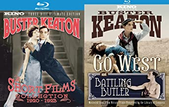 Buster Keaton Ultimate Collection - The Short Films Collection 1920-1923 (Three-Disc Ultimate Edition) & Go West and Battling Butler (Ultimate Two-Disc Edition) 6-Disc Blu-ray Bundle