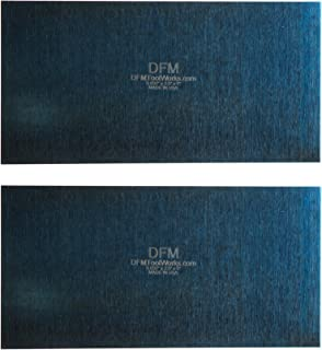DFM Tool Works Blue Cabinet Scraper Rectangle Sets- MADE IN USA - Multiple Sizes (2, 0.032