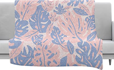 Kess InHouse Kess Original Snow Agate Blue Orange Throw 60 x 40 Fleece Blankets