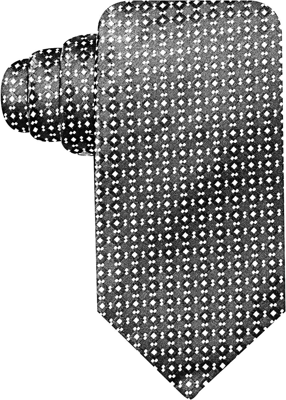 Geoffrey Beene Ryder Neat Neck Tie, Black, OS