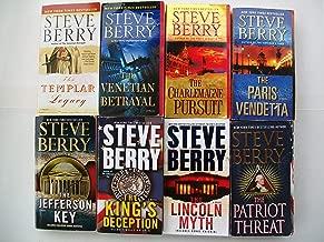 Cotton Malone Series (Set of 8) Templer Legacy, Venetian Betrayal, Charlemagne Pursuit, Paris Vendetta, Jefferson Key, King's Deception, Lincoln Myth, Patriot Threat