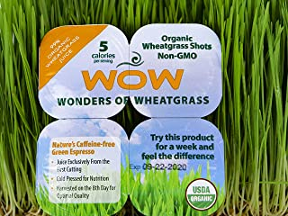 WOW Frozen Wheatgrass Juice - ONLY $1.67 per Oz (84 Fl Oz)- 100% Organic Certified- Unpasteurized- Alkaline - No Powder! Grown and Packaged in USA