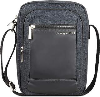bugatti Sera Kleine Umhängetasche für Herren, Schultertasche mit Tabletfach - Messenger Bag Kuriertasche, Anthrazit