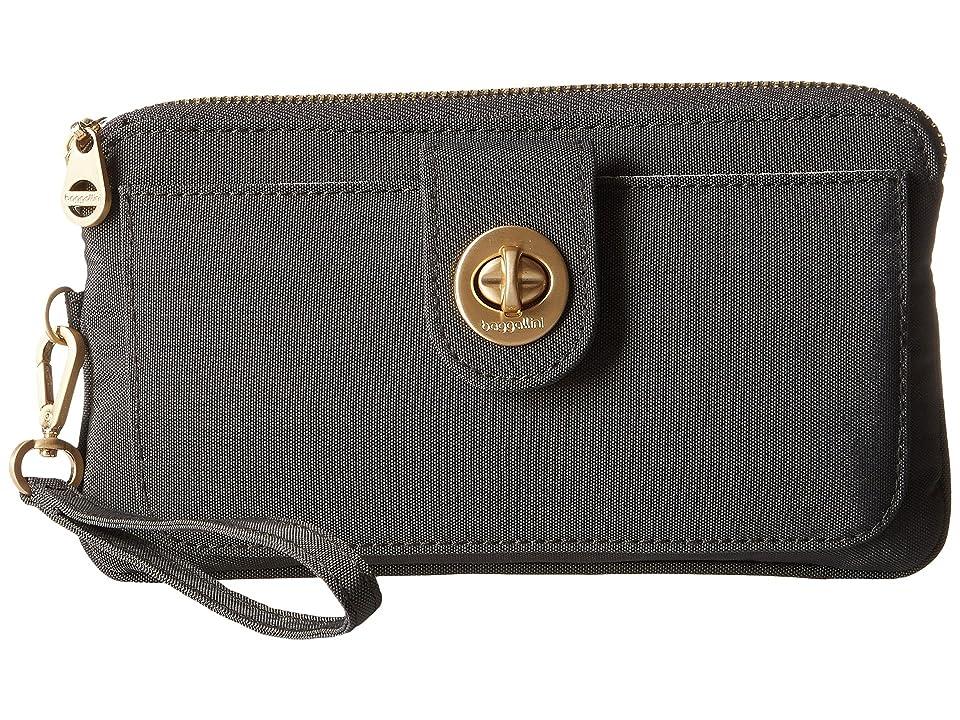 Baggallini Gold Lisbon RFID Wristlet (Charcoal) Wristlet Handbags
