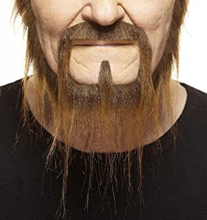 Mustaches Self Adhesive, Novelty, Long Squatter Fake Beard, False Facial Hair, Costume Accessory for Adults