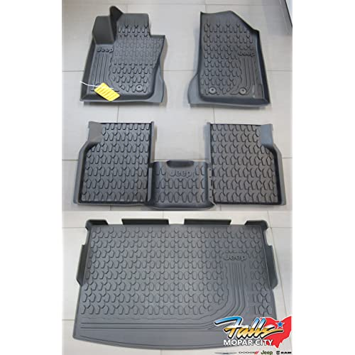 2007-2016 Jeep Compass Patriot Rubber Slush Floor Mats /& Cargo Tray Liner Mopar
