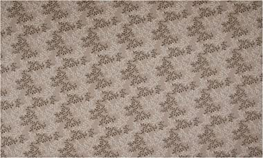 108'' Extra-Wide 100% Cotton Leaves Taupe Fabric by the Yard