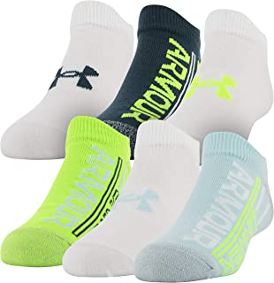 Under Armour Unisex-Child Essential 2.0 No Show Socks, 6-Pairs Socks (pack of 6)
