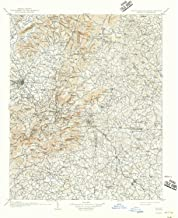 YellowMaps Saluda NC topo map, 1:125000 Scale, 30 X 30 Minute, Historical, 1907, Updated 1942, 20.6 x 17 in