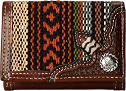 Saddle Blanket Concho Tri-Fold Wallet