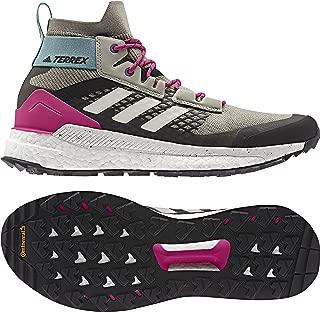 Terrex Free Hiker Mens Hiking Boots, (Sesame, Raw White, Real Magenta), Size 12.5