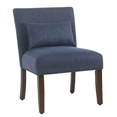 Spatial Order Dinah Modern Armless Accent Chair with Pillow, Navy