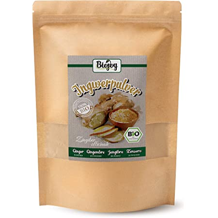 Biojoy Jengibre en Polvo Ecologico, producida de raíces desecadas de Jengibre (1 kg)