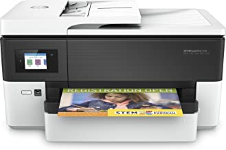 HP Officejet Pro 7720 - Impresora multifunción de formato ancho (impresión A3 y A4, pantalla táctil en color, memoria 512 MB, AAD de 35 hojas, impresión a doble cara, fax, AirPrint), color blanco