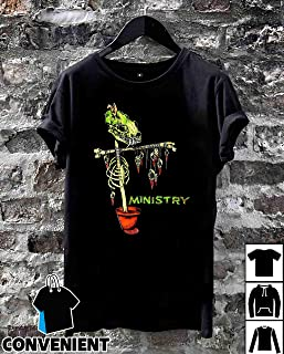 1992 Ministry Scarecrow Pushead Rare Vintage T Shirt Long Sleeve Sweatshirt Hoodies