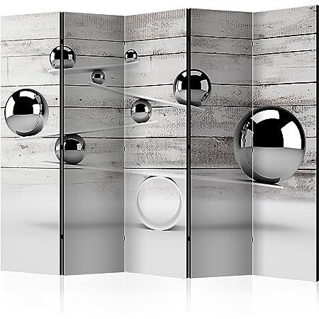 135x172 cm Reversible Impression sur Papier intiss/é 100/% Opaque Paravent decoratif pour Chambre Paravent en Bois avec Impression f-B-0112-z-b murando Paravent /& Tableau daffichage en Liege