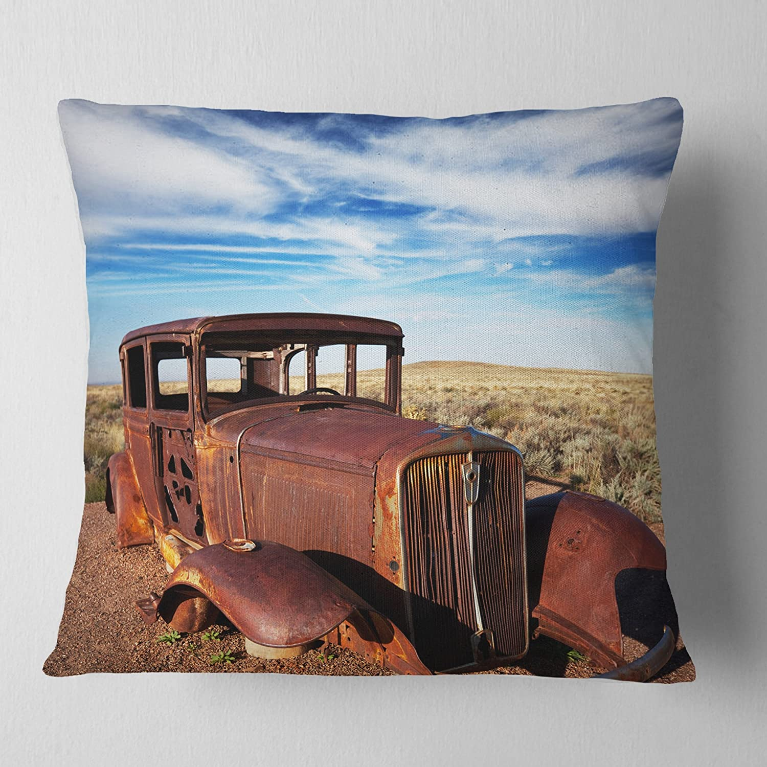 Designart Vintage Car Under Special price Bright Cush Max 69% OFF Sky' Abstract Blue Throw