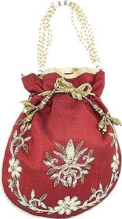 ADORA FASHION INDIAN HANDMADE POTLI/POUCH/CLUTCH BAG FOR WOMEN ADORA ACI 105 MAROON