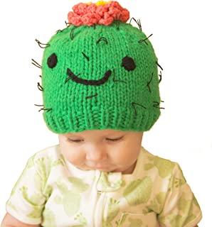 Huggalugs Baby and Toddler Prickly Succulent Cactus Knit Beanie Hat