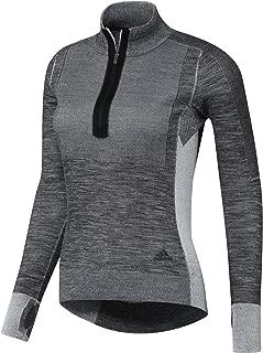 adidas PKNIT 1/2ZIP W - 女式运动衫,颜色黑色,尺码