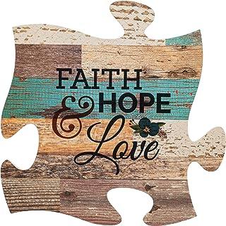 Best P. Graham Dunn Faith Hope & Love Multicolor 12 x 12 Wood Wall Art Puzzle Piece Plaque Review