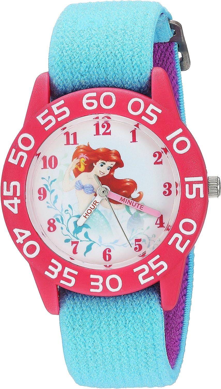 DISNEY Courier shipping free shipping Girls Princess Ariel Analog-Quartz Watch Nylon Strap Luxury with
