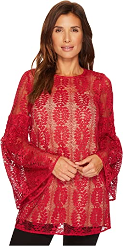 MICHAEL Michael Kors - Bell Sleeve Lace Tunic