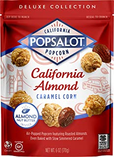 Popsalot Gourmet Popcorn Deluxe Collection, California Almond Caramel Corn, 6.0 Ounce (Pack of 12)