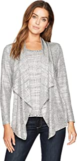 Women's Petite Brushed Foil Printed Heather Jersey 2-fer Twinset